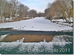 Frozen musconetcong river
