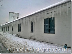 Nasty row of icicles!