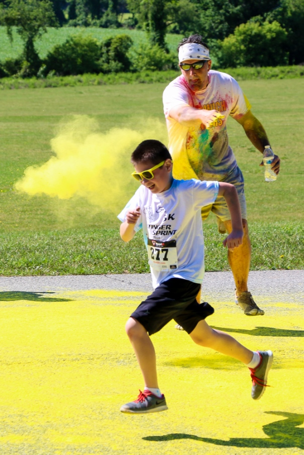 Stinger Sprint 2015 included a Color Run this year. Photo by DAVE DABOUR