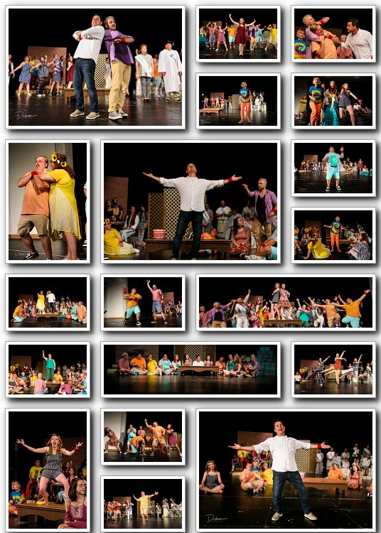 Godspell publicity photos for CAST