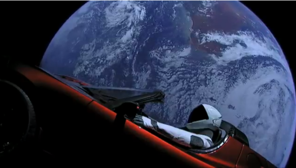Falcon Heavy rocket launch puts Starman driving in space